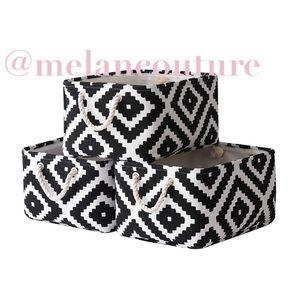 Storage Baskets Fabric Baskets [3 Pack]